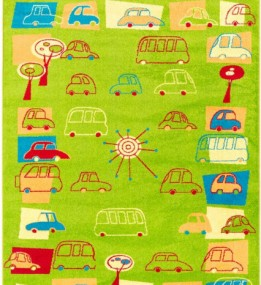 Детский ковер Funky Traffic Limonka