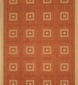 Безворсовая ковровая дорожка Sisal 012 terra-cream