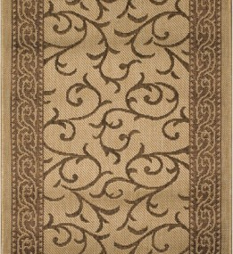 Безворсовая ковровая дорожка Sisal 014 beige-gold