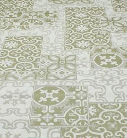 Безворсовая ковровая дорожка Cottage 5474 wool - olive - green