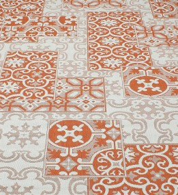 Безворсовая ковровая дорожка Cottage 5474 wool - terra