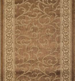 Безворсовая ковровая дорожка Sisal 014 gold-beige