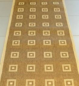 Безворсовая ковровая дорожка Sisal 012 GOLD-BEIGE