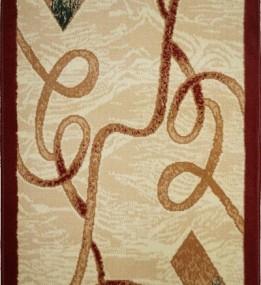 Синтетична килимова доріжка Almira 2327 Cream-Red Рулон