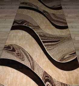 Синтетическая ковровая дорожка Festival 6015A l.beige-d.brown