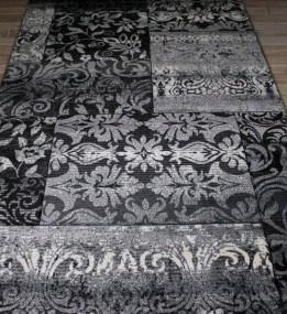 Синтетическая ковровая дорожка Festival 7955A black-l.grey