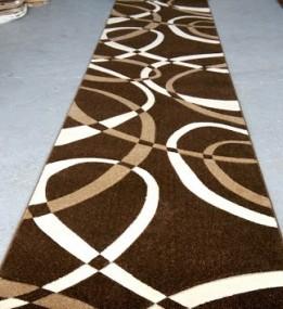 Синтетическая ковровая дорожка Legenda 0353 коричневый