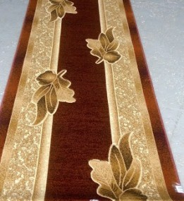Синтетична килимова доріжка Liliya 0557 бордо