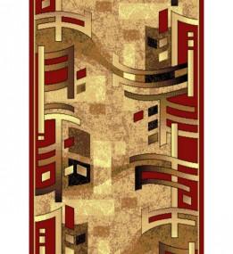 Синтетическая ковровая дорожка Silver  / Gold Rada 140-122 red