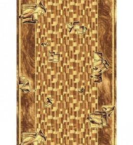 Синтетическая ковровая дорожка Silver  / Gold Rada 306-12 brown