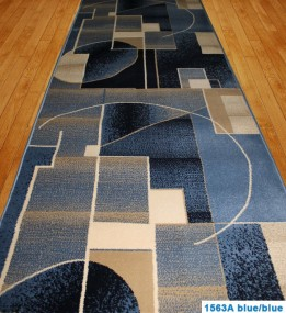 Синтетическая ковровая дорожка Super Elmas 1563A blue-blue