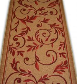 Синтетическая ковровая дорожка Vitebsk Felt Zavitok red