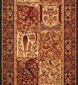 Шерстяная ковровая дорожка ISFAHAN Timor black