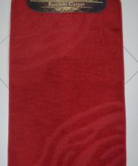 Килим для ванної 128873 комплект червоний