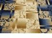 Синтетическая ковровая дорожка Super Elmas 5131C ivory-d.blue - высокое качество по лучшей цене в Украине - изображение 2