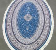Иранский ковер Hamadan Silk 5.75058 blue - высокое качество по лучшей цене в Украине.
