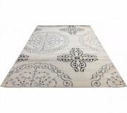 Акриловый ковер Tarabya 0005 White-Grey - высокое качество по лучшей цене в Украине.