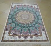 Иранский ковер Diba Carpet Lotus cream-brown-copper-d.green - высокое качество по лучшей цене в Украине.