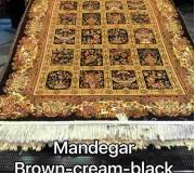 Иранский ковер Diba Carpet Mandegar brown-cream-black - высокое качество по лучшей цене в Украине.