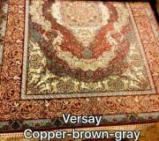 Иранский ковер Diba Carpet Versay copper-brown-gray - высокое качество по лучшей цене в Украине.