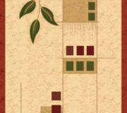 Синтетический ковер Melisa 0224D beige-red - высокое качество по лучшей цене в Украине.