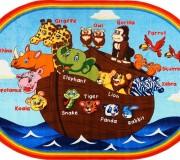 Детский ковер Animals Ship Anti-Slip Blue - высокое качество по лучшей цене в Украине.