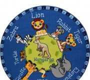 Детский ковер Animal Planet Blue - высокое качество по лучшей цене в Украине.