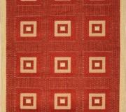 Безворсовая ковровая дорожка Sisal 012 red-cream - высокое качество по лучшей цене в Украине.