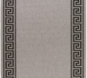 Безворсовая ковровая дорожка Natura 20014 Silver-Black - высокое качество по лучшей цене в Украине.