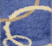 Высоковорсная ковровая дорожка Shaggy Gold 8018 blue - высокое качество по лучшей цене в Украине.