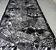 Синтетическая ковровая дорожка Magnoliya мрамор серый - высокое качество по лучшей цене в Украине.