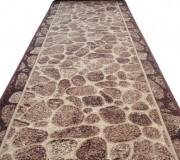 Синтетическая ковровая дорожка Silver  / Gold Rada 307-12 Kamni New brown - высокое качество по лучшей цене в Украине.