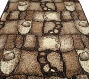 Синтетическая ковровая дорожка Silver  / Gold Rada 101-12 Kamni Stari brown - высокое качество по лучшей цене в Украине.