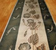Синтетическая ковровая дорожка Super Elmas 1173A ivory-d.green - высокое качество по лучшей цене в Украине.