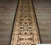 Синтетическая ковровая дорожка Super Elmas 1203C ivory-d.green - высокое качество по лучшей цене в Украине.