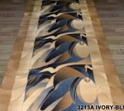 Синтетическая ковровая дорожка Super Elmas 3213A ivory-blue - высокое качество по лучшей цене в Украине.