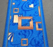 Синтетическая ковровая дорожка Vitebsk Felt Kubik blue - высокое качество по лучшей цене в Украине.