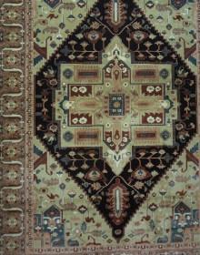 Иранский ковер Diba Carpet Ghashghaei d.brown - высокое качество по лучшей цене в Украине.