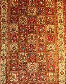 Иранский ковер Diba Carpet Kheshti l.red - высокое качество по лучшей цене в Украине.
