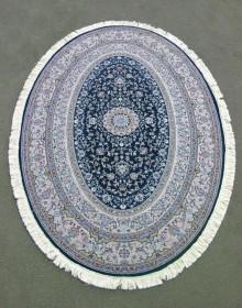 Иранский ковер Hamadan Silk 5.75058 dark blue - высокое качество по лучшей цене в Украине.