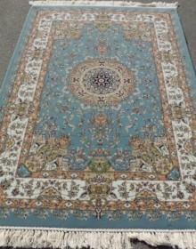 Иранский ковер Shah Kar Collection (Y-009/8060 blue) - высокое качество по лучшей цене в Украине.