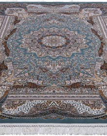 Персидский ковер Kashan 619-LBL blue - высокое качество по лучшей цене в Украине.