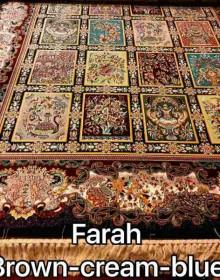 Иранский ковер Diba Carpet farah brown cream-blue - высокое качество по лучшей цене в Украине.
