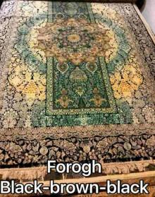 Иранский ковер Diba Carpet Forogh black-brown-black - высокое качество по лучшей цене в Украине.