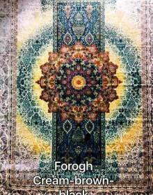 Иранский ковер Diba Carpet Forogh cream-brown-black - высокое качество по лучшей цене в Украине.