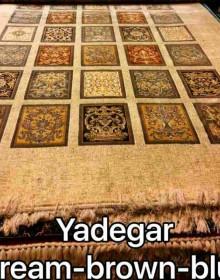 Иранский ковер Diba Carpet Yadegar cream-brown-blue - высокое качество по лучшей цене в Украине.