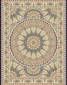 Иранский ковер Marshad Carpet 3008 Dark Blue - высокое качество по лучшей цене в Украине.