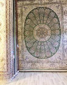 Иранский ковер Marshad Carpet 3026 Green - высокое качество по лучшей цене в Украине.