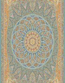Иранский ковер Marshad Carpet 3055 Blue - высокое качество по лучшей цене в Украине.