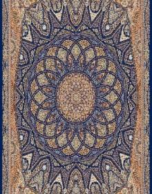 Иранский ковер Marshad Carpet 3055 Dark Blue - высокое качество по лучшей цене в Украине.